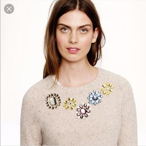 J Crew Jeweled Donegal sweater